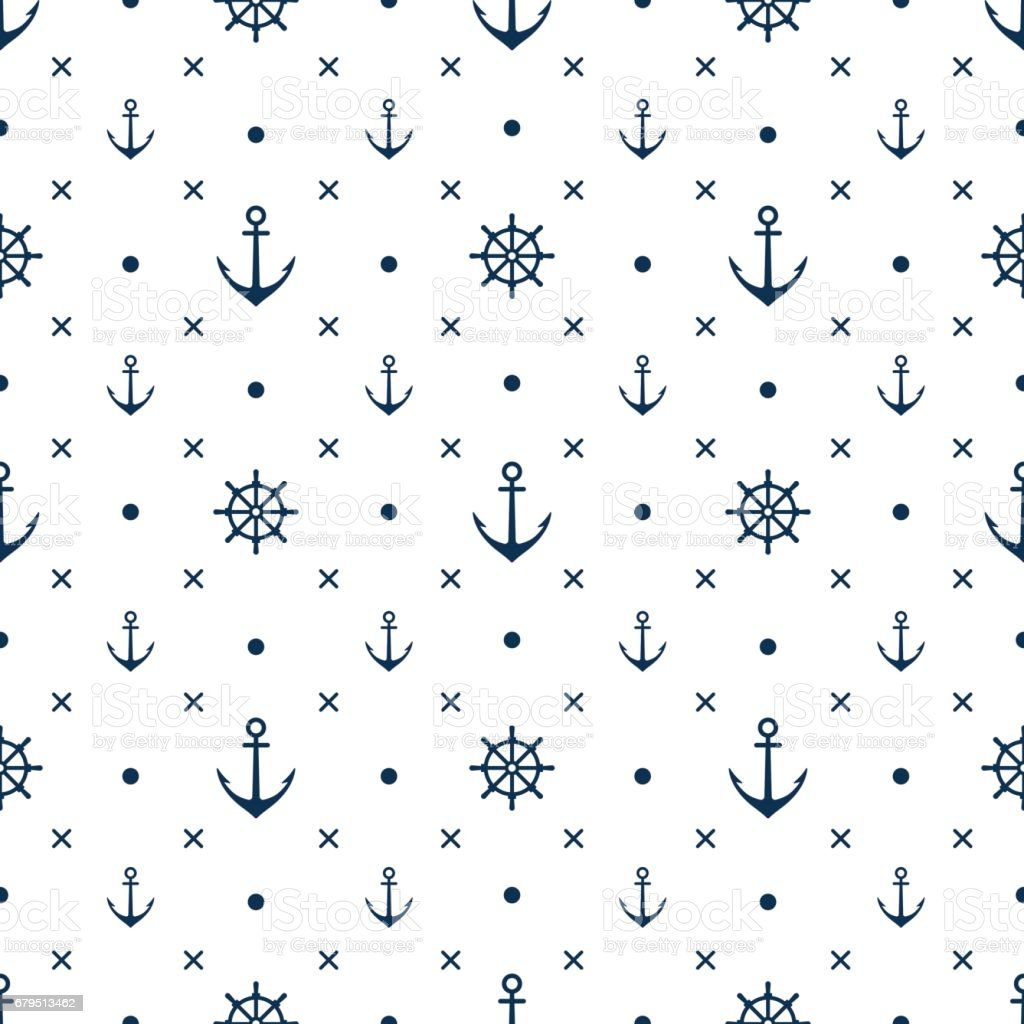 anchor seamless pattern vector white background royalty-free anchor seamless pattern vector white background stock vector art & more images of antique