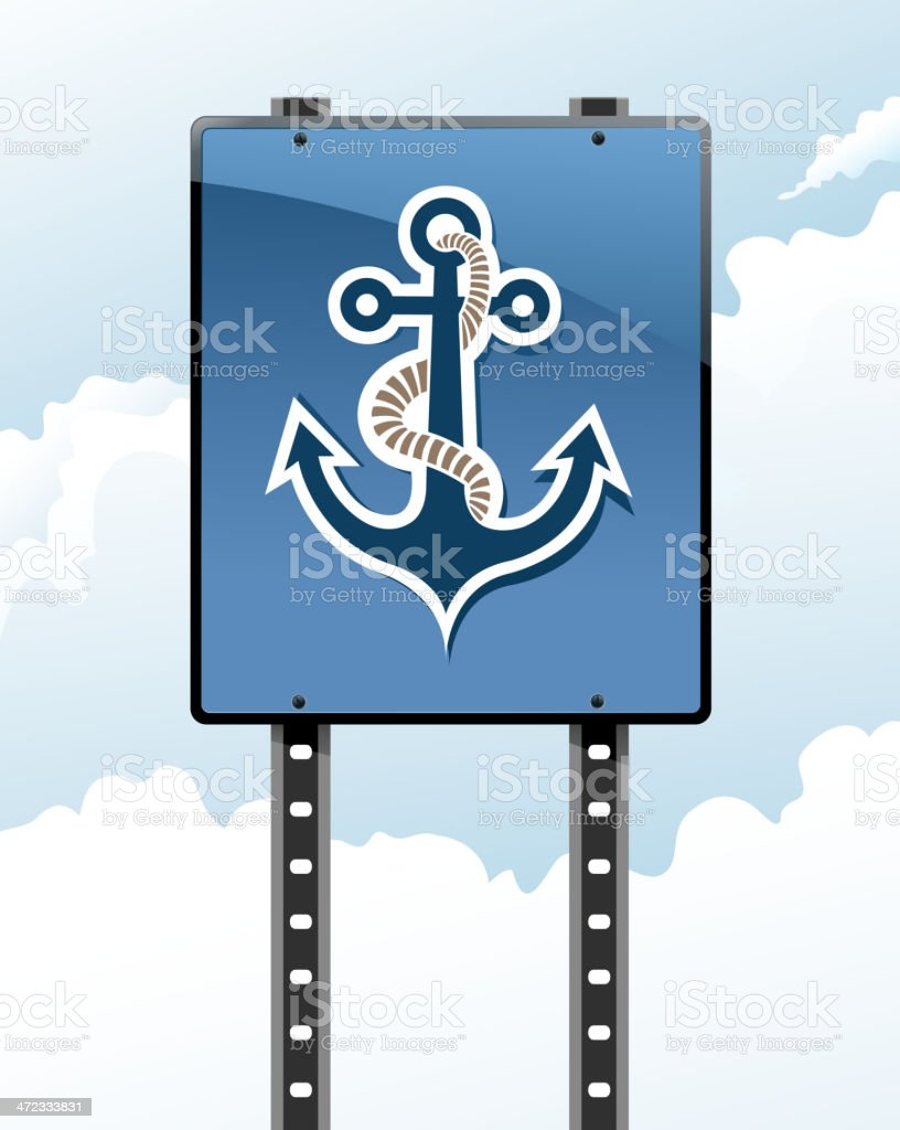 anchor sign royalty-free stock vector art