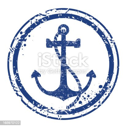 istock Anchor stamp 165970122
