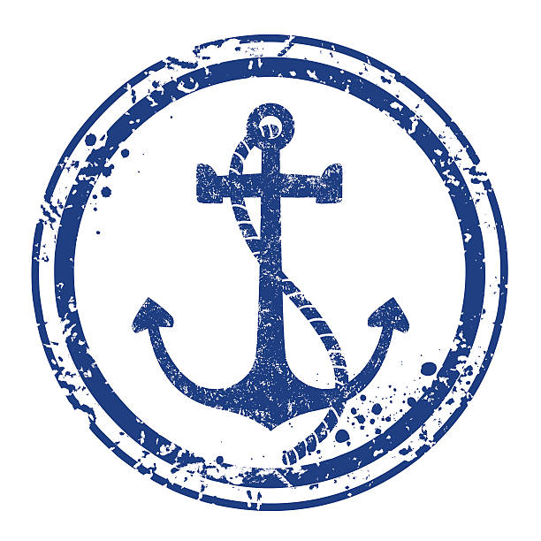 Anchor stamp vector art illustration
