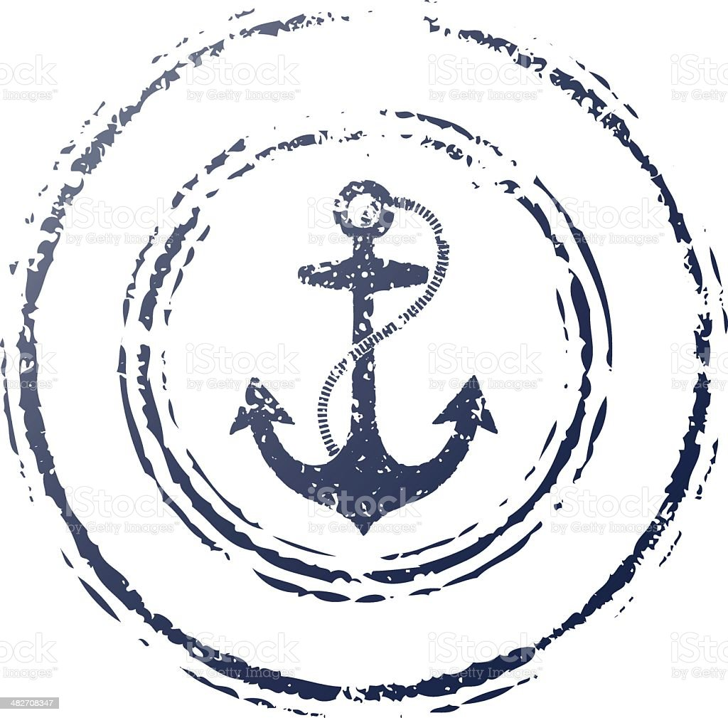anchor stamp royalty-free anchor stamp stock vector art & more images of anchor - vessel part
