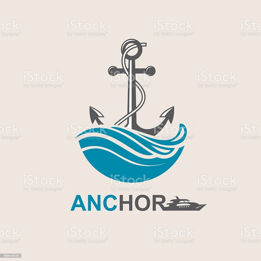 anchor symbol image vector art illustration