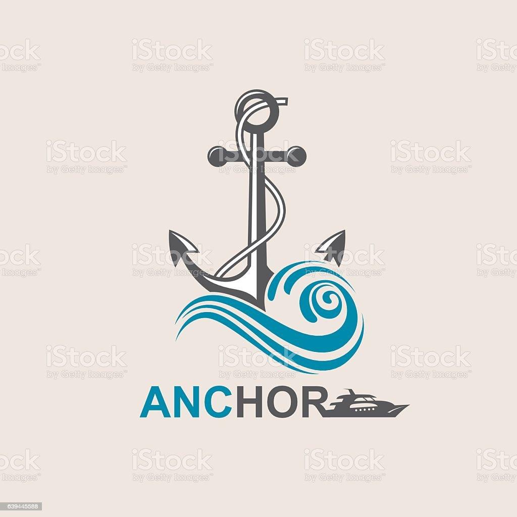 anchor symbol image vector art illustration