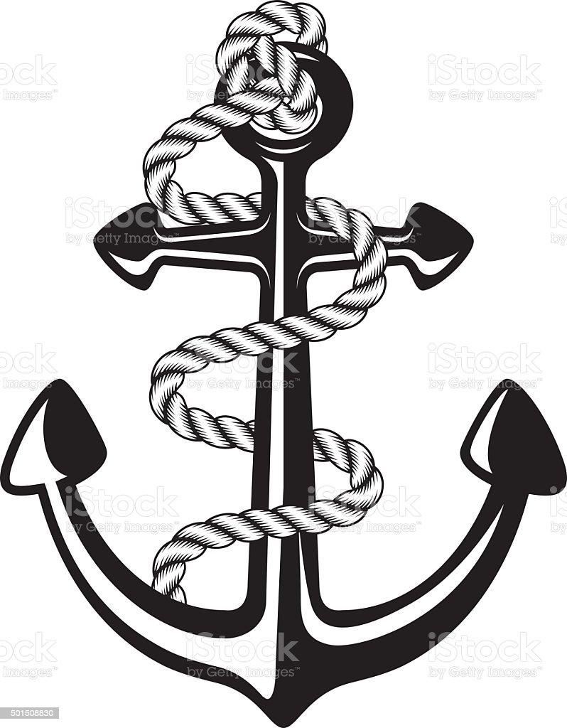 anchor symbol vector art illustration