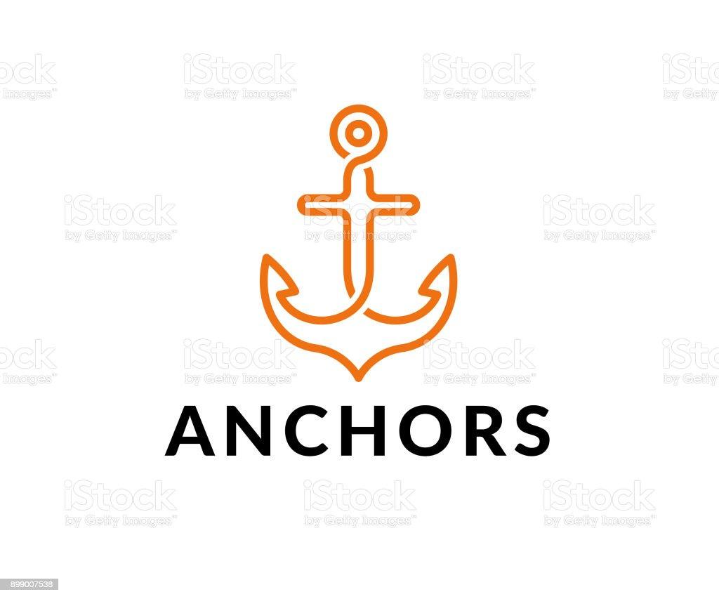 anchor vector icon vector art illustration