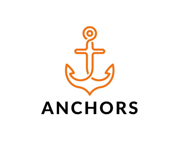anchor vector icon anchor, sea, vector, icon waterfront stock illustrations