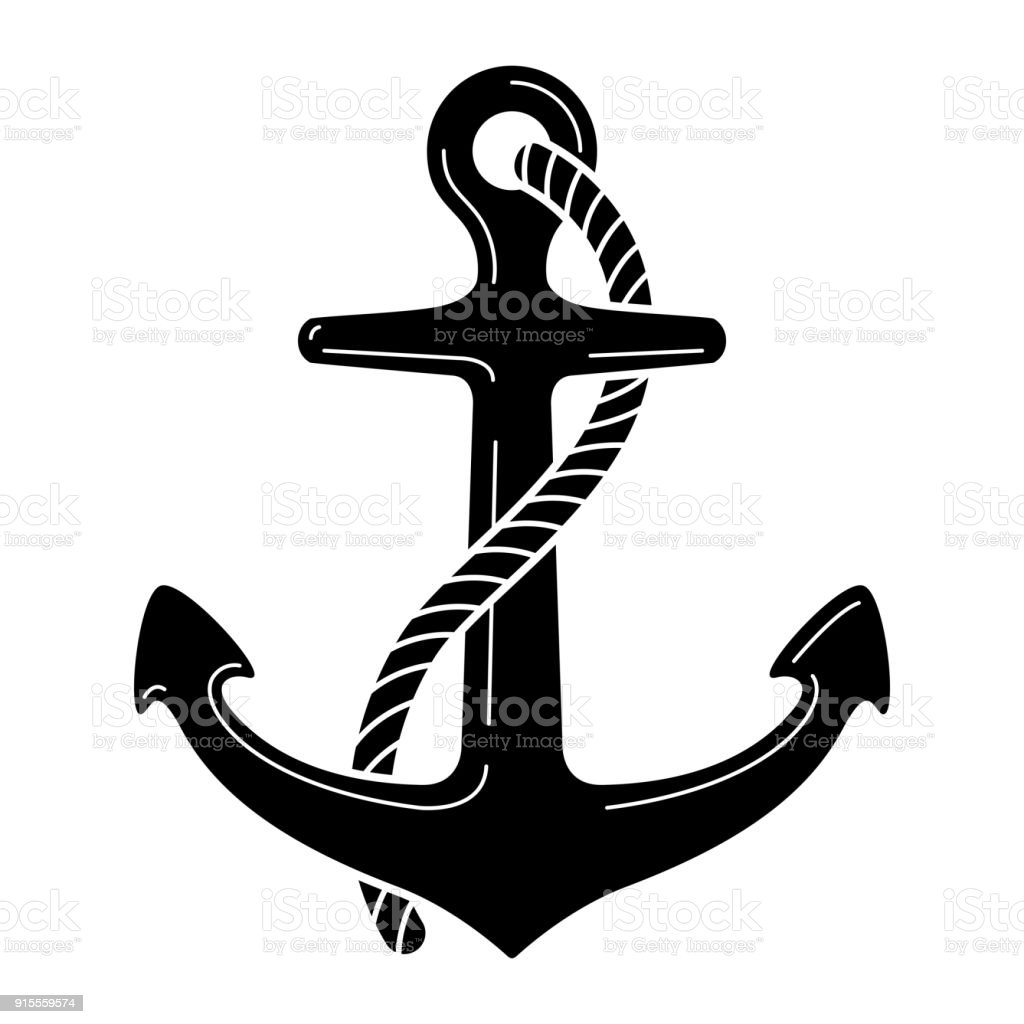 anchor vector nautical symbol icon maritime sea ocean boat rh istockphoto com anchor vector clip art anchor vector art free download