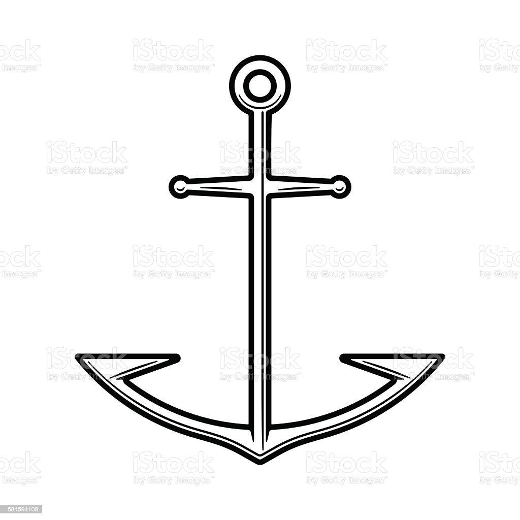 Anchor vessel on white background – Vektorgrafik