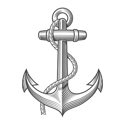 Anchor Vintage Woodcut Style