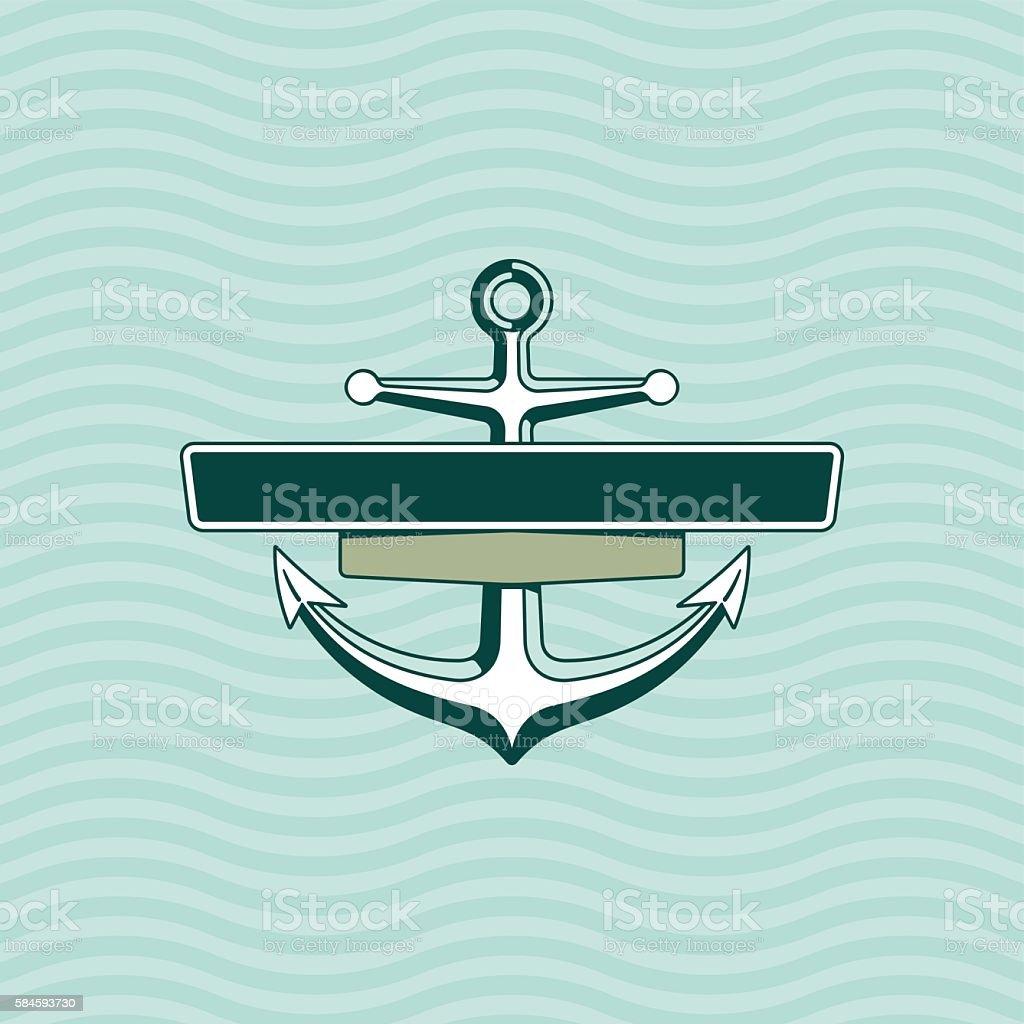 Anchor with frame. Logo - Illustration – Vektorgrafik