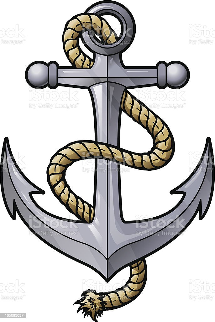 anchor with rope stock vector art 165693037 istock