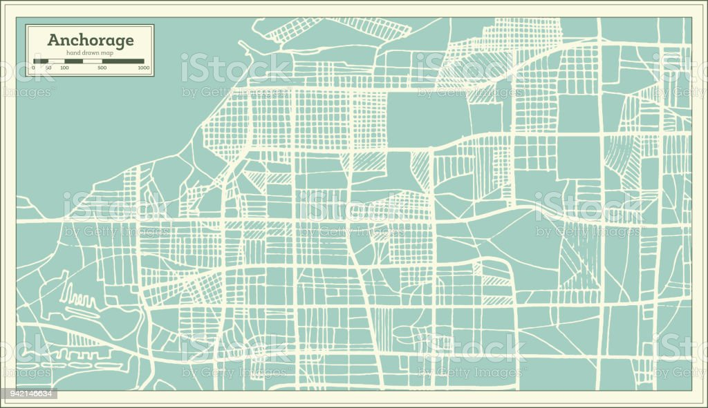 anchorage alaska usa city map in retro style outline map royalty free anchorage