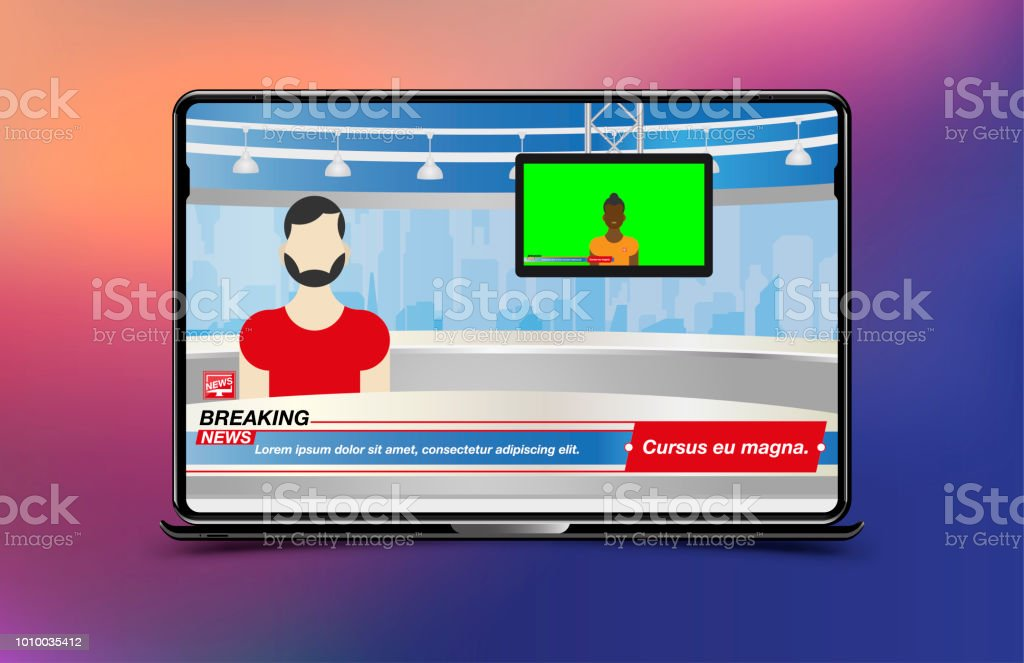 Anchorman In Breaking News Banner Breaking News Template In