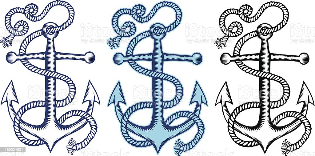 Anchors royalty-free anchors stock vector art & more images of anchor - vessel part