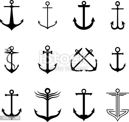 Set of 12 anchors