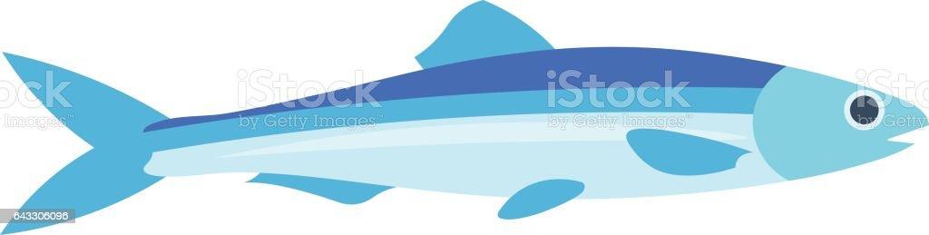 Ilustración del vector de la anchoa. - ilustración de arte vectorial