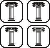 Ancien column icon - four variations