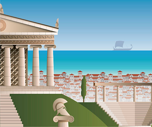 ancient Athens ancient Athens ancient greece stock illustrations