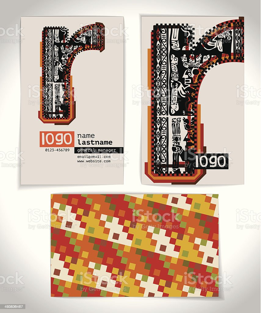 Ancienne Carte De Visite Design Lettre R Cliparts
