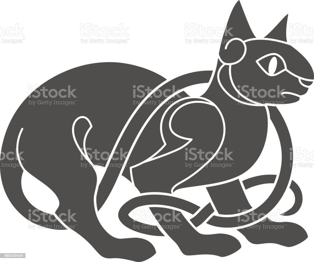 Ancient Celtic Mythological Symbol Of Cat Stock Vector Art More