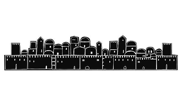 Line Drawing Jerusalem : Royalty free jerusalem clip art vector images