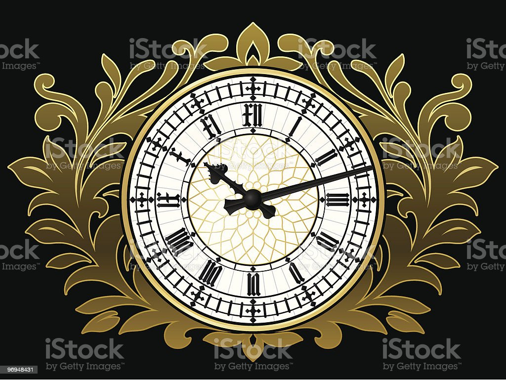 Ancient clock with golden wreath royalty-free ancient clock with golden wreath stock vector art & more images of accuracy