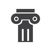 Ancient columns icon black normal