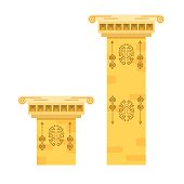 Ancient columns isolated vector illustration