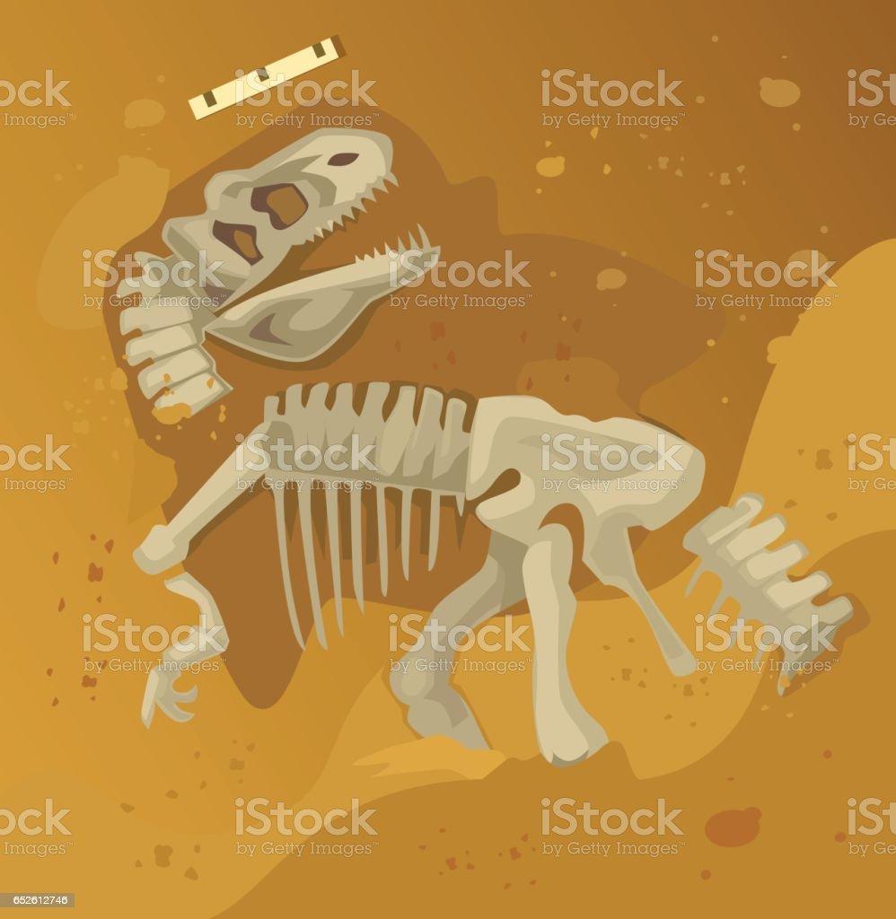 Ancient dinosaur skeleton fossil