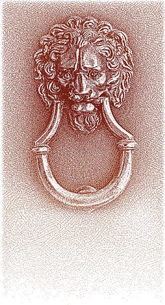 alte türklopfer - türklopfer stock-grafiken, -clipart, -cartoons und -symbole