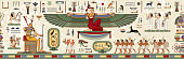 Egyptian hieroglyph and symbolAncient culture sing and symbol.