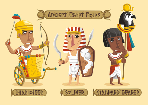 Ancient Egypt characters set