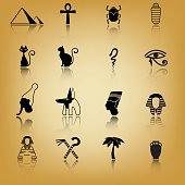 Ancient Egypt icon set