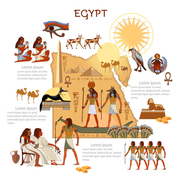 Ancient Egypt infographics. sights, culture. Egyptian gods and pharaoh traditions, map, people. Ancient Egypt template elements Ancient Egypt infographics. sights, culture. Egyptian gods and pharaoh traditions, map, people. Ancient Egypt template elements ancient egyptian culture stock illustrations