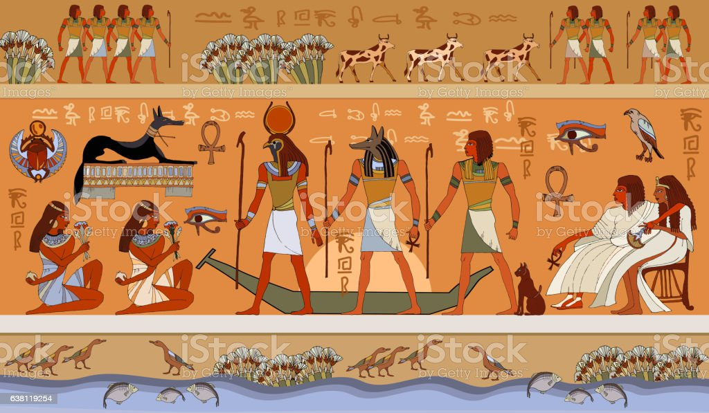 Ancient Egypt scene, mythology