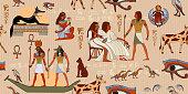 Ancient Egypt seamless pattern