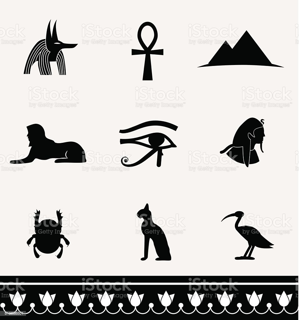 Ancient Egypt. Vector icons. vector art illustration