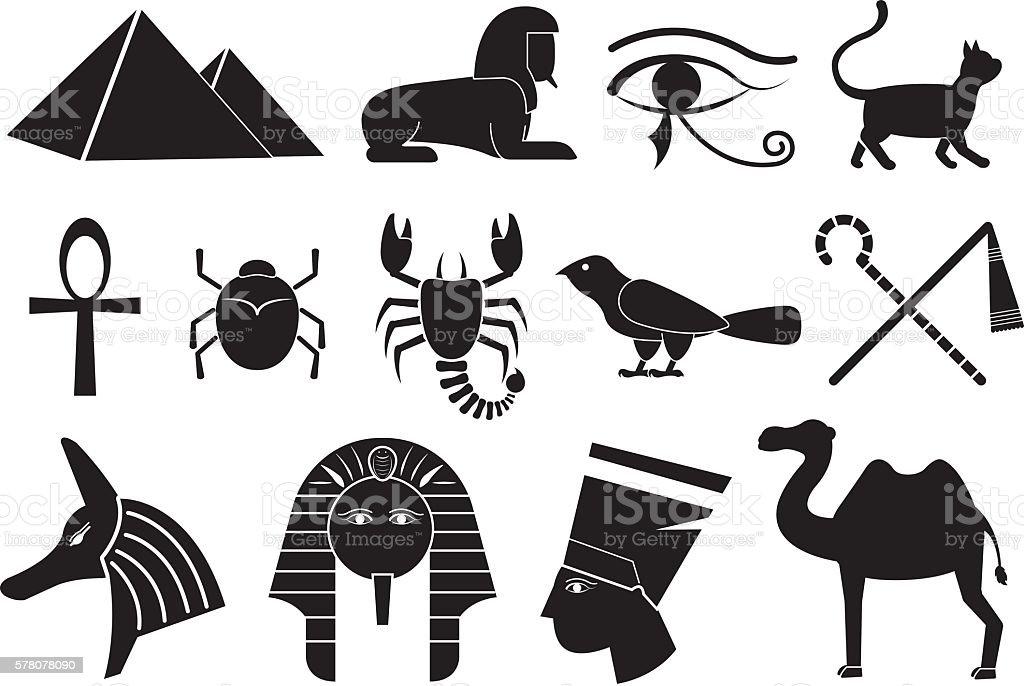 ancient egypt vector art illustration