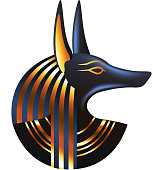 Ancient egyptian god Anubis isolated vector
