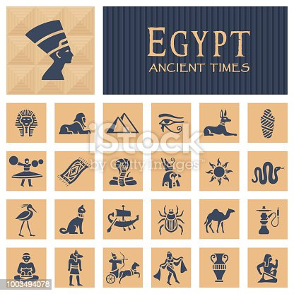 Ancient egyptian icons