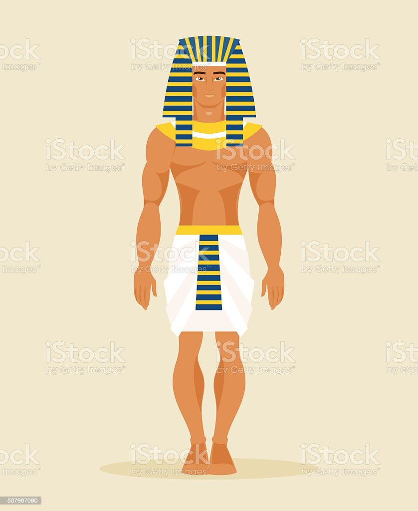 Ancient Egyptian man. vector Illustration vector art illustration