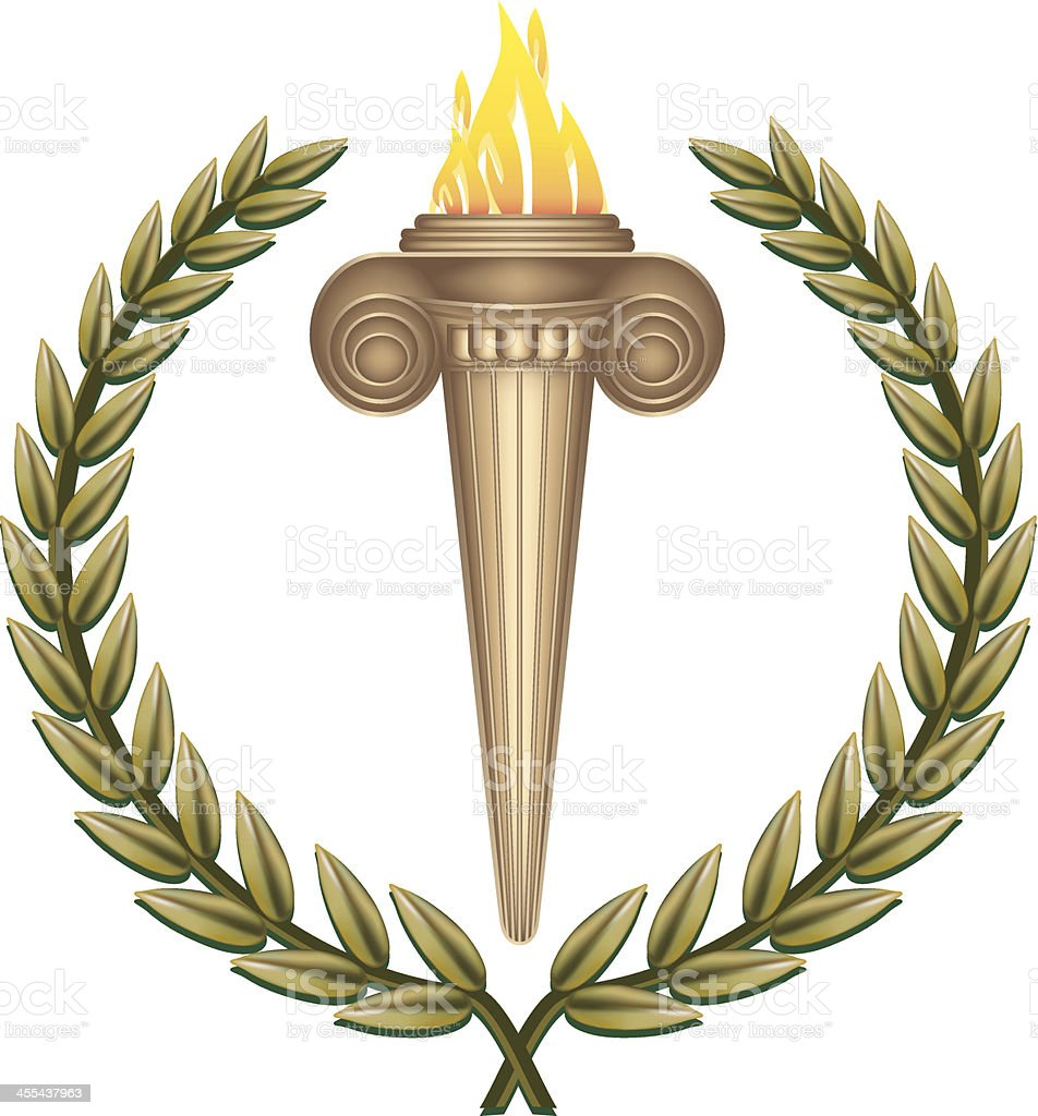 Ancient Flaming Torch royalty-free ancient flaming torch stock vector art & more images of ancient greece