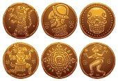 Ancient Gold Coins set