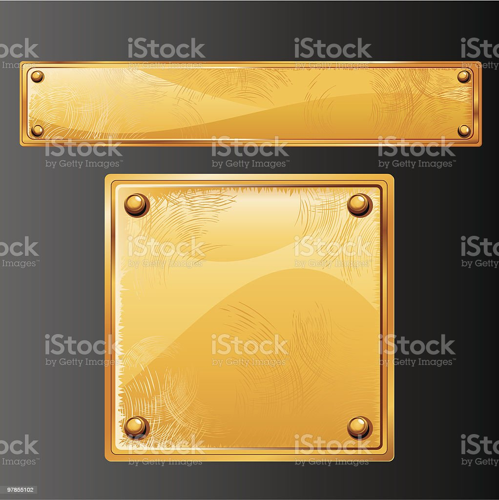 ancient golden plate royalty-free ancient golden plate stock vector art & more images of alloy