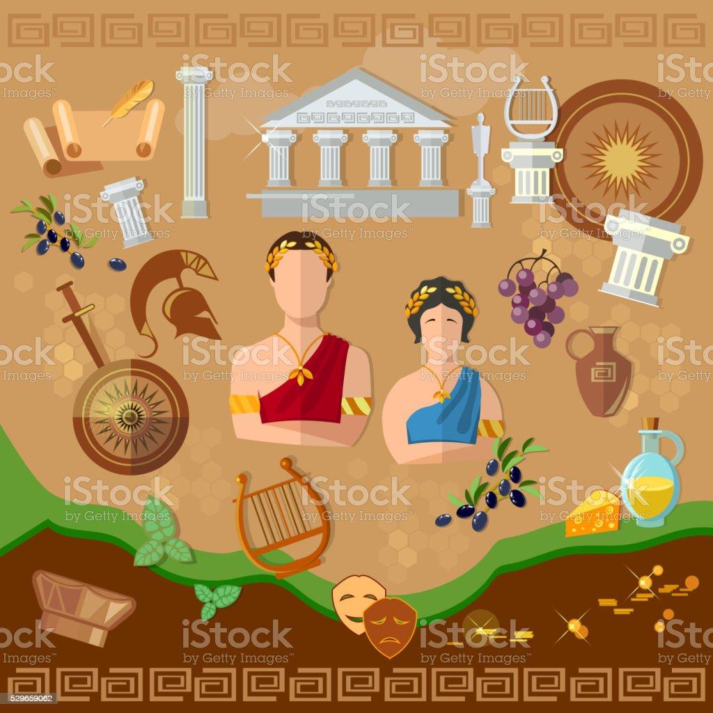 Ilustraci n de grecia antigua roma antigua cultura y la for Cultura de la antigua grecia