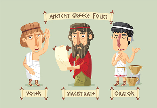 Ancient Greece characters set