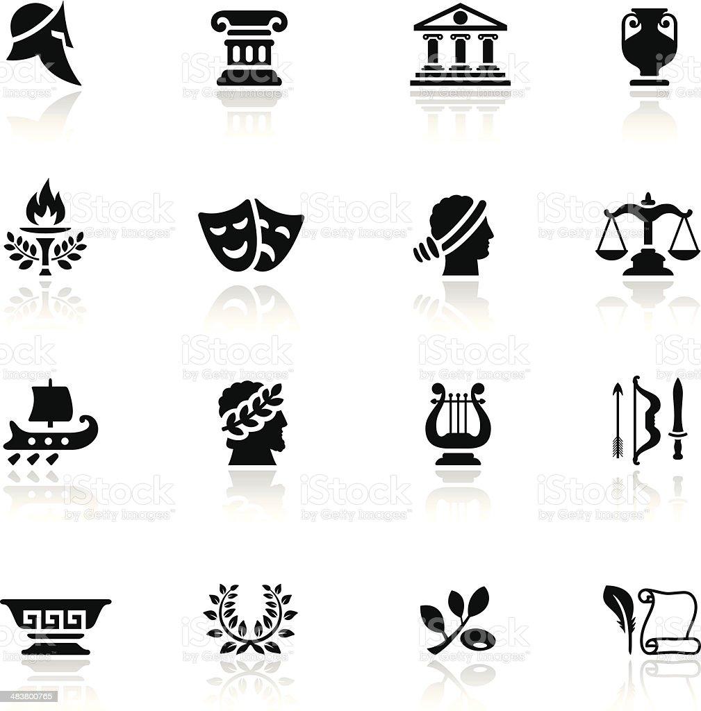 Ancient Greece Icon Set vector art illustration