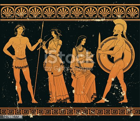 Classical Ancient Greek silhouettes