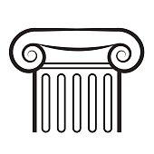 Ancient greek column icon.