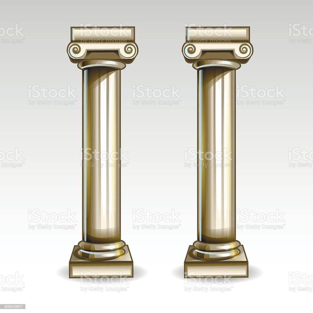 Ancient Greek column vector art illustration